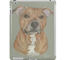 Terrier portrait in pastel iPad Case/Skin