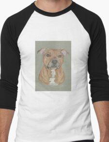Terrier portrait in pastel Men's Baseball ¾ T-Shirt