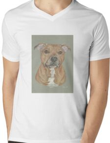 Terrier portrait in pastel Mens V-Neck T-Shirt