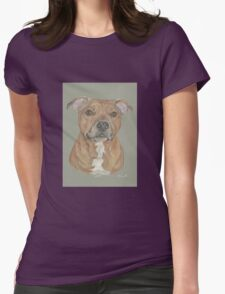 Terrier portrait in pastel Womens Fitted T-Shirt