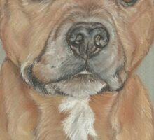 Terrier portrait in pastel Sticker