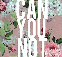 Funny Vintage Floral Can You Not Pink Vintage Design by hellosailortees