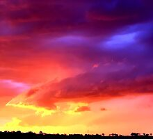 colorful cloud in Wagga Wagga by Baha Mosa