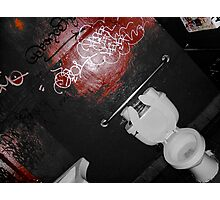B&W Red Room Photographic Print