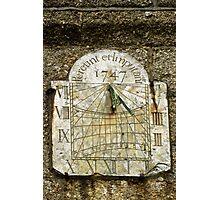 Vertical Sundial, St Buryan Parish Church Photographic Print