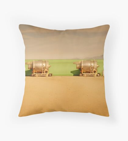 Twin Engines Throw Pillow