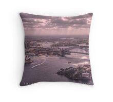 Sydney Harbour from the Air - Sydney, Australia (Photo Finish) Throw Pillow