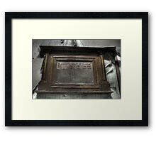 In Honoured Memory Framed Print