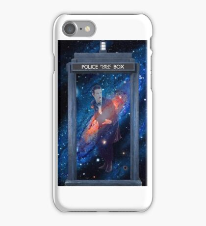 The Doctor in The TARDIS iPhone Case/Skin