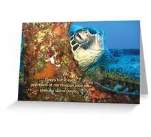 Sleepy Turtle Greeting Card