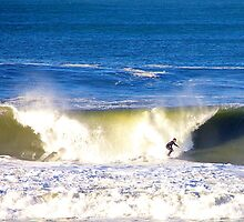 Surfing Half Moon Bay by njordphoto
