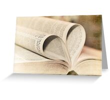 Pages of Love Greeting Card