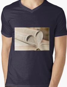 Pages of Love Mens V-Neck T-Shirt
