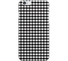Black White Gingham Check Pattern iPhone Case/Skin