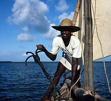 On a Dhow - Indian Ocean by bertspix