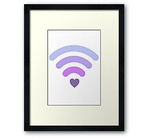 Wifi love Framed Print