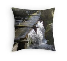 Water, Just Moving Along  Throw Pillow
