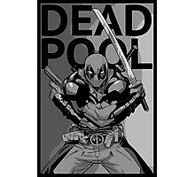 Deadpool - Pose - black and white Photographic Print