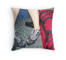 Tired Soles Throw Pillow