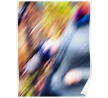 Photographer in Blur Poster