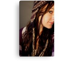 Its all about the Beanie Canvas Print