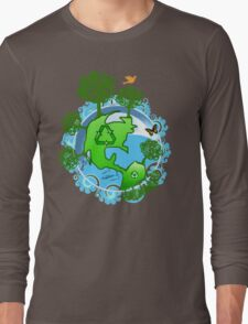 A Global Recycle Long Sleeve T-Shirt