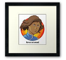 Korra is Not Amused Framed Print