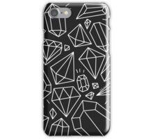 Gems Black and White iPhone Case/Skin