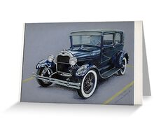 1929 Ford Model A Greeting Card