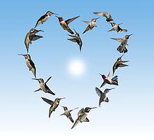 Hummingbird love heart by TJBest