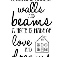 A house is made of walls and beams... by meeperoon