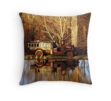 Antique Fire Engine Throw Pillow