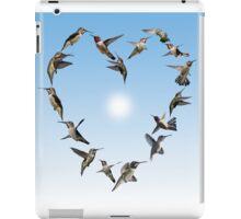 Hummingbird love heart iPad Case/Skin