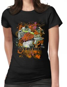 OVERTIME (QUARTERBACK) ORANGE Womens Fitted T-Shirt