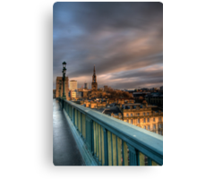 Along the Bridge Canvas Print