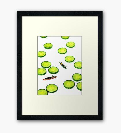 Boating Among Cucumber Slices Framed Print
