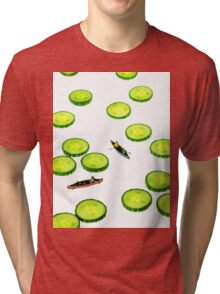 Boating Among Cucumber Slices Tri-blend T-Shirt