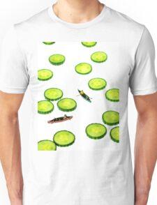 Boating Among Cucumber Slices Unisex T-Shirt