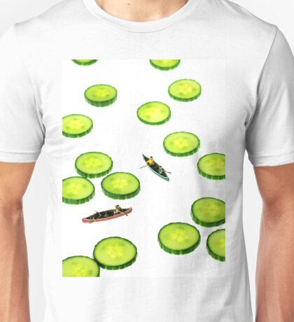 Boating Among Cucumber Slices Unisex T-Shirt