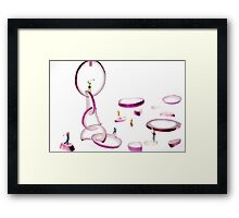 Playing Golf Among Onion Rings Framed Print