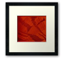 Red Cyclones Framed Print