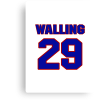 National baseball player Denny Walling jersey 29 Canvas Print