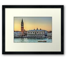 Early Evening Light in Piazza San Marco Framed Print