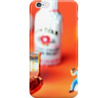 Drinking Among Liquor Filled Chocolate Bottles iPhone Case/Skin