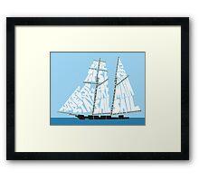 Tops'l Schooner Sail/Spar Plan Framed Print