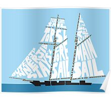 Tops'l Schooner Sail/Spar Plan Poster