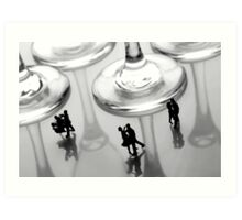 Dancing Among Glass Cups Art Print