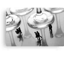 Dancing Among Glass Cups Canvas Print