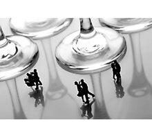 Dancing Among Glass Cups Photographic Print