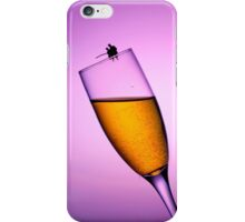 Fishing On A Cup Of Champange iPhone Case/Skin
